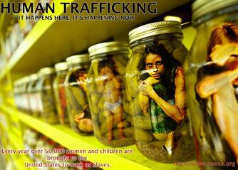 Bottle-human trafficking