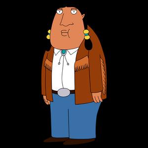 Bordertown HD CLEAR Character ART George the Native Indian Barman