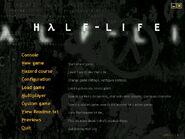 Half Life Main Menu