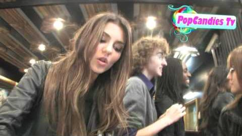 Exclusive! Victoria Justice & Avan Jogia Show Secret Hidden Talent @ The Music Box in Hollywood!