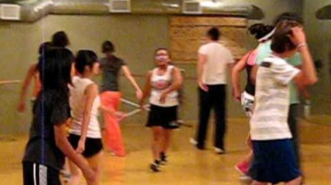 Victoria Justice, Avan Jogia, Jordan Francis and Sarah Francis dance class