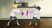 Boruto and Himawari fight