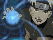 Naruto Uzumaki using the Rasengan