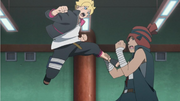 Boruto spars with Iwabee