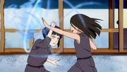 Young Hinata and Hanabi fight
