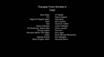 Escape from Krinkle's- Cast credits