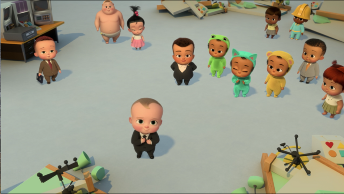 Six Well-Placed Kittens - Board of directors offering Boss Baby a job