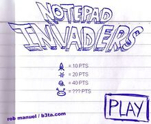 Notepadinvaders