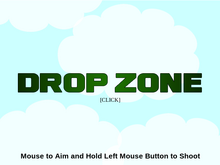 Drop zone title