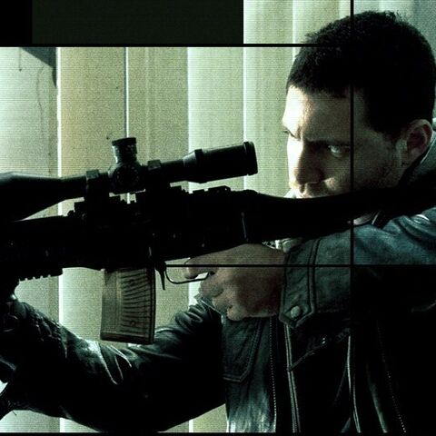 Paz as he appears on a segment of the Bourne Ultimatum poster