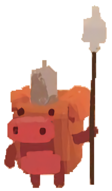 Pig with spear (x16)
