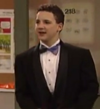 Cory wearing a tux