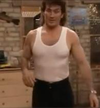 Mr. Turner wearing a tank top.
