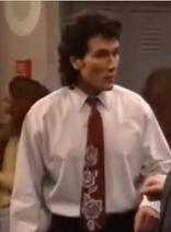 Mr. Turner wearing a red tie