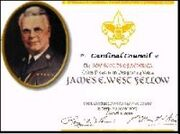 James E. West Award Certificate