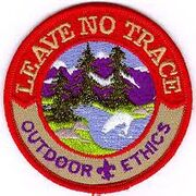 Leave No Trace Achievement Scout