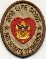 2010 Life scout Patch