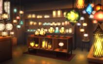 Antique lamp shop