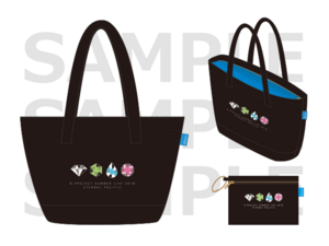 Summer live tote pouch