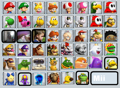 BKSM3 Character Select Screen