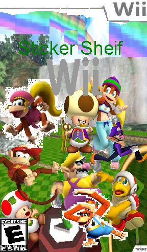 Sticker Sheif Wii Box