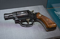 Model 36 38 calibre Smith & Wesson which was issued to women in the NSW Police