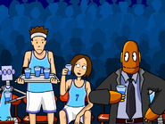 Tim, Cassie, and Moby (basketball)