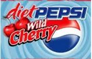 Diet pepsi wild cherry package logo