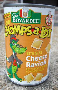 Chef Boyardee Sir Chomps-A-Lot Cheese Ravioli can 1990's