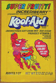Kool-Aid Incrediberry flavor (Super Fruity!) packet early 90's