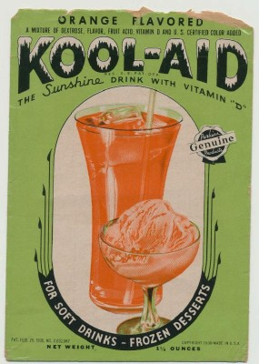 Orange Kool-Aid packet circa 1938