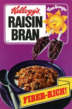 Kellogg's Raisin Bran 1985 box