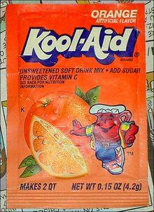 Kool-Aid orange flavor packet 1990's