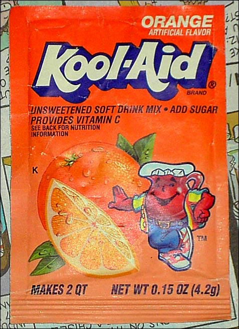 Kool-Aid orange flavor packet 1990's