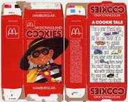 McDonald's McDonaldland Cookies box (Hamburglar) 1984