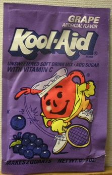 Kool-Aid grape flavor packet early 90's