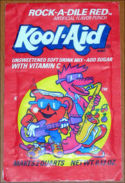 Kool-Aid Rock-A-Dile Red flavor packet early 90's