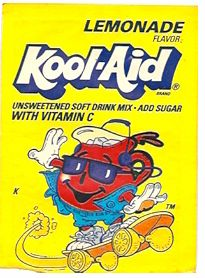 Kool-Aid lemonade flavor packet early 90's