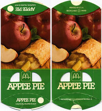 McDonald's Apple Pie box 1984