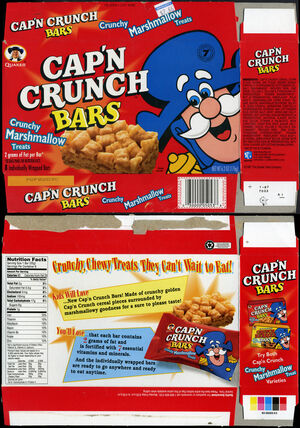 Cap'n Crunch Bars box 1997