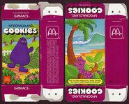 McDonald's McDonaldland Cookies box (Grimace) 1987
