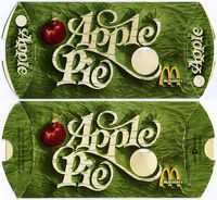 McDonald's Apple Pie box 1980