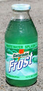 Gatorade Frost Wihitewater Splash glass bottle 1998