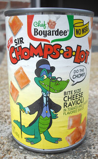 Chef Boyardee Sir Chomps-A-Lot Cheese Ravioli can 1992