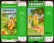 McDonald's McDonaldland Cookies box (Ronald McDonald) 1987