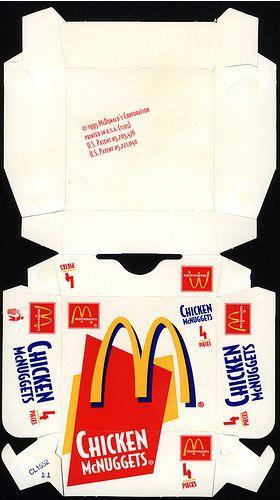 McDonald's Chicken McNuggets 4 piece box 1995