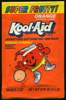 Kool-Aid orange flavor (Super Fruity!) packet early 90's