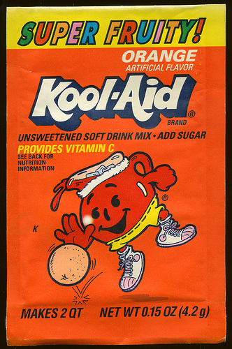 Kool-Aid orange flavor (Super Fruity!) packet early 90's