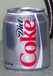 Diet Coke And Logo Can