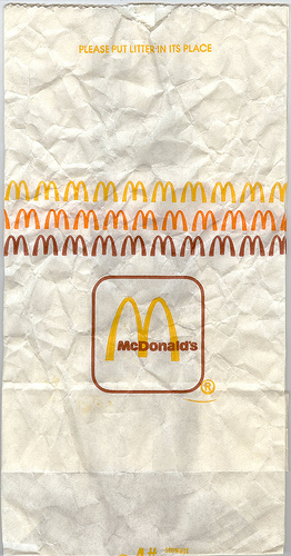 McDonald's bag (M row) 1980's